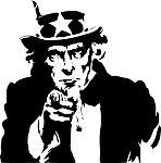 uncle sam black and white