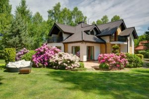 42198970 - picture of beautiful village house with garden